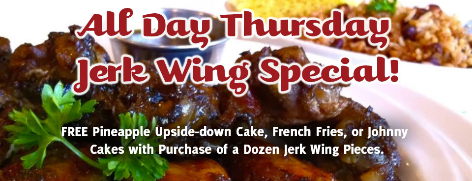 All Day Thursday Jerk Chicken Wing Special